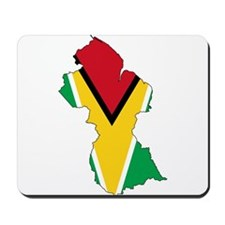 Guyana Flag and Map Mousepad
