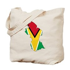 Guyana Flag and Map Tote Bag