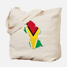 Guyana Flag and Map Tote Bag