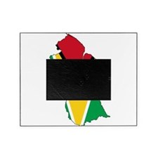 Guyana Flag and Map Picture Frame