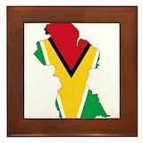 Guyana flag Framed Tiles