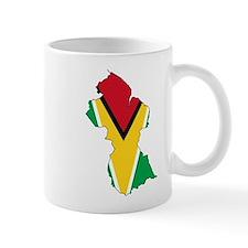 Guyana Flag and Map Mug