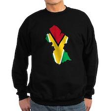 Guyana Flag and Map Sweatshirt