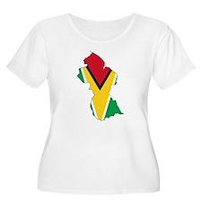 Guyana Flag and Map T-Shirt