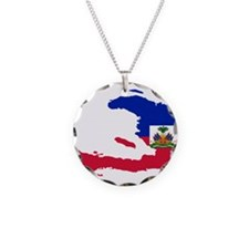 Haiti Flag and Map Necklace