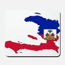 Haiti Flag and Map Mousepad