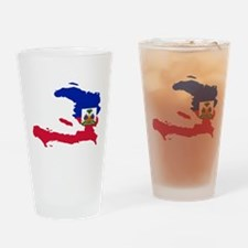 Haiti Flag and Map Drinking Glass