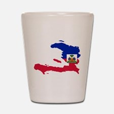 Haiti Flag and Map Shot Glass