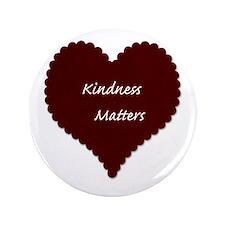 """Kindness Matters Heart 3.5"""" Button (100 pack)"""