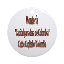 Monteria frases colombianas Ornament (Round)