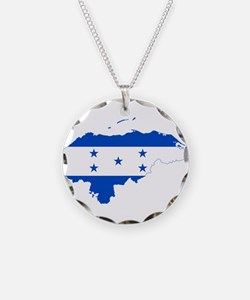 Honduras Flag and Map Necklace