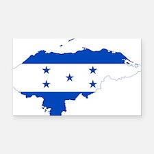 Honduras Flag and Map Rectangle Car Magnet