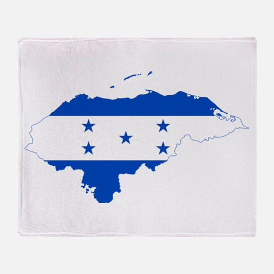 Honduras Flag and Map Throw Blanket