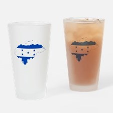 Honduras Flag and Map Drinking Glass