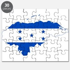 Honduras Flag and Map Puzzle