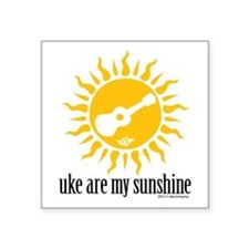 "uke are my sunshine Square Sticker 3"" x 3"""