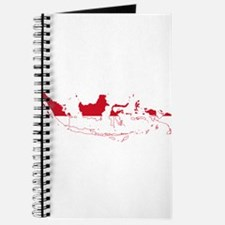Indonesia Flag and Map Journal