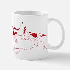 Indonesia Flag and Map Mug
