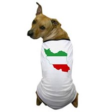 Iran Tricolor Flag and Map Dog T-Shirt