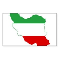 Iran Tricolor Flag and Map Decal