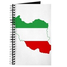 Iran Tricolor Flag and Map Journal
