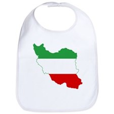 Iran Tricolor Flag and Map Bib