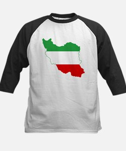 Iran Tricolor Flag and Map Tee