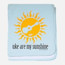 uke are my sunshine baby blanket