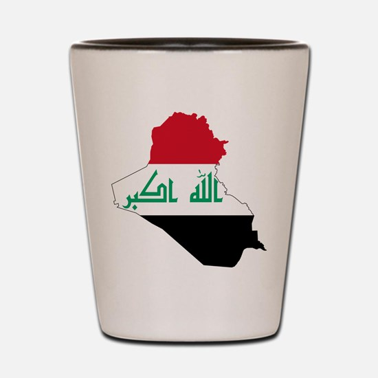 Iraq Flag and Map Shot Glass