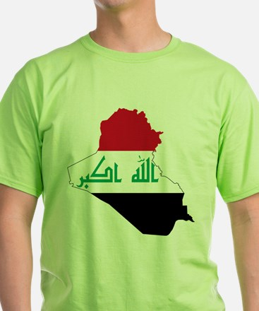 Iraq Flag and Map T-Shirt