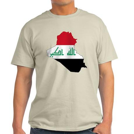 Iraq Flag and Map Light T-Shirt