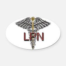 LPN Medical Symbol Oval Car Magnet