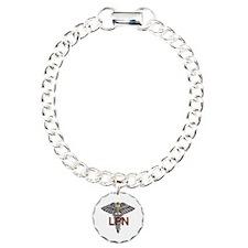LPN Medical Symbol Charm Bracelet, One Charm