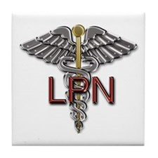 LPN Medical Symbol Tile Coaster