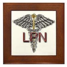 LPN Medical Symbol Framed Tile