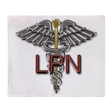 LPN Medical Symbol Throw Blanket