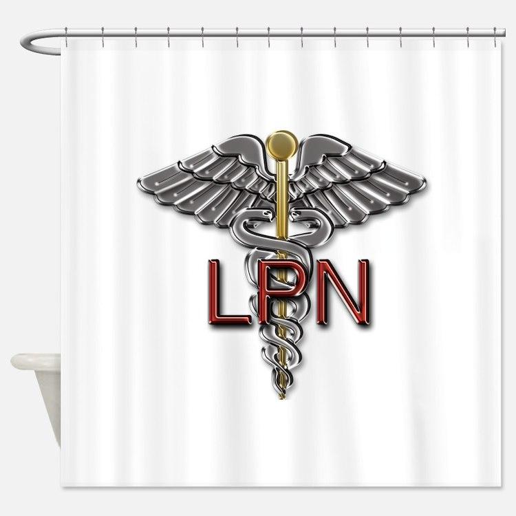 LPN Medical Symbol Shower Curtain