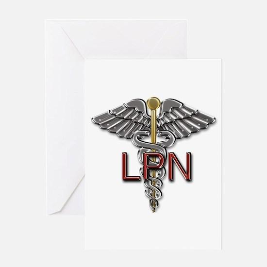 LPN Medical Symbol Greeting Card