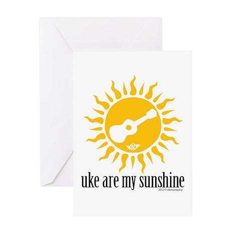 uke are my sunshine Greeting Card