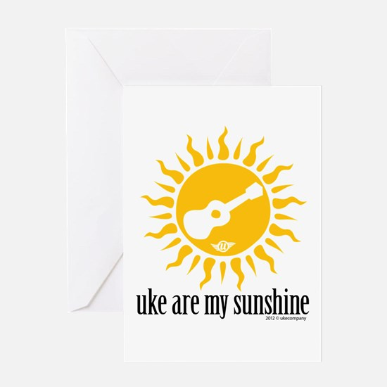 uke are my sunshine Greeting Card
