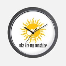 uke are my sunshine Wall Clock