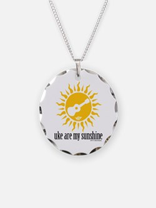 uke are my sunshine Necklace Circle Charm