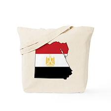 Flag Map of Egypt Tote Bag