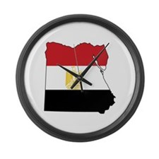 Flag Map of Egypt Large Wall Clock