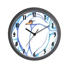 Sleepy Swan Wall Clock