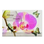 Always Dream Orchid and Butterflies Postcards (Pac