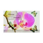 Always Dream Orchid and Butterflies 35x21 Wall Dec