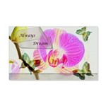 Always Dream Orchid and Butterflies 20x12 Wall Dec