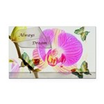 Always Dream Orchid and Butterflies Rectangle Car