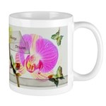 Always Dream Orchid and Butterflies Mug